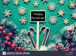 Retro Holidays Black Christmas Sign Lights Text Happy Holidays Retro Look Stock