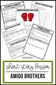 To Kill A Mockingbird Literary Terms Chart Key Amigo Brothers Short Story Lesson Middle School Reading