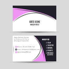entry 4 for makeup artist business cards