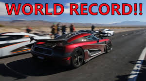Insane Koenigsegg Agera RS Breaks TOP SPEED WORLD RECORD!!! - YouTube