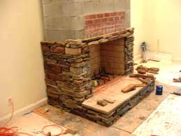 installing stacked stone fireplace surround how to build a raised hearth home fireplaces
