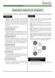 Class 11 Chemistry Revision Notes for Chapter 1 - Some Basic ...