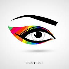 Глаз красочные вектор макияж | Бесплатно векторы