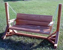 cedar creek wood porch swing