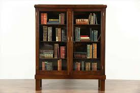 antique bookcase with gl doors floors doors interior
