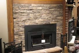 stone veneer fireplace arch