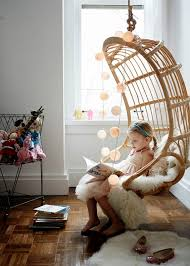hanging chairs for bedrooms. Girls-bedroom-west-village-apartment-tour-cupofjo- Hanging Chairs For Bedrooms S