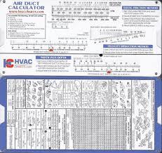 Hvac Chart Air Duct Sizing Calculator Slide Chart Hvac