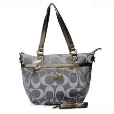 Coach In Signature Small Grey Totes AQC