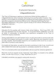 Resume Job Duties Examples Lifeguard Resume Job Description 18