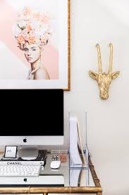 maggie mommy shared office playroom. Glam Office, Home Bamboo Desk, Blogger Style Your Senses Maggie Mommy Shared Office Playroom