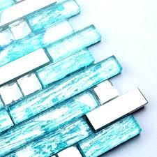 blue glass mosaic tile backsplash blue glass mosaic tile aqua glass silver metal tiles diamond stainless