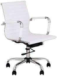 leather office chair amazon. Low Back Leather Office Chair Amazon Serge White Swivel Fice Kitchen \u0026amp; /