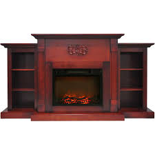 hanover classic electric fireplace cherry with built freestanding fireplaces log inserts bookshelves and vent free gas