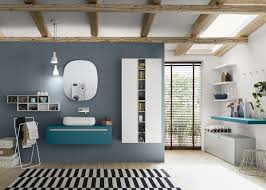 view gallery bathroom modular system progetto. View In Gallery Add Color To Your Bathroom With Modular System Progetto I
