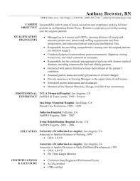 Resume Examples For Registered Nurse Resume Templates