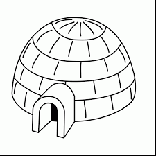 Small Picture Impressive black and white igloo clip art with coloring page