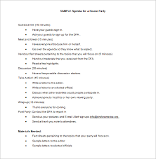 Party Agenda Sample Wedding Itinerary Template Shatterlion Info