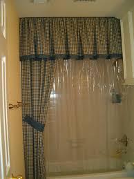 window bathroom curtains with valance