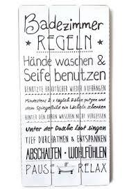 Bada Bing Plankenschild Badezimmer Regeln Ca 60 X 30 Cm Deko