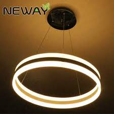 Φ400mm Φ600mm Φ800mm up down one circle modern acrylic led pendant light fixture