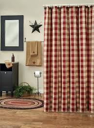 red plaid shower curtain 1 red white and blue plaid shower curtain woolrich buffalo check red
