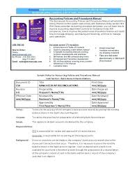 Accounting Manual Template Free Download Word Procedure Manual Template Free Accounting Policies And