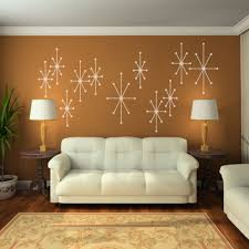 Modern Wall Murals Amazoncom Vinyl Atomic Starbursts Wall Decal Mid Century Modern