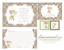 Kitchen Bridal Shower Wedding Shower Recipe Card Templates Rustic Bridal Shower Recipe