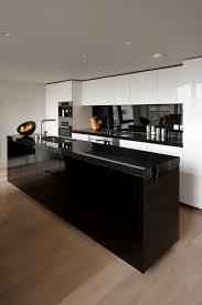 Modern black kitchen cabinets Glass Blackkitchenideasfreshome1 The Bath Kitchen Gallery 31 Black Kitchen Ideas For The Bold Modern Home Freshomecom