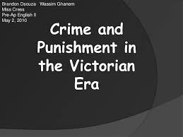crime and punishment victorian era
