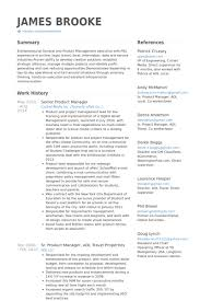 Senior Product Manager Resume samples