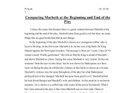 comparison of macbeth at the begining and end of the play gcse  document image preview