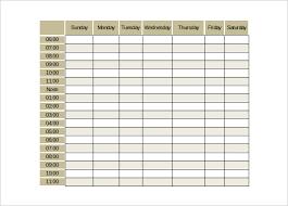 Free Weekly Schedule Template Excel Weekly Schedule Template Cyberuse