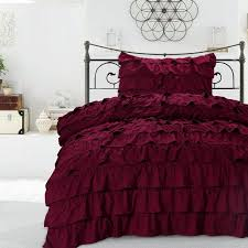 vintage bedding set modern romance ruffle waterfall duvet cover french vintage style girls teen ruffled microfiber