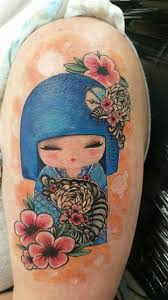 My Very First Tat A Japanese Kokeshi Doll Done By Dustin Pacheco