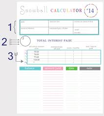 debt snowball calculator free paying off debt worksheets printables pinterest debt payoff