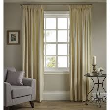 wilko pencil pleat thermal blackout curtains cream167 x 137cm