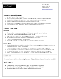 Example Of Functional Resume For A Student Free Resume Example