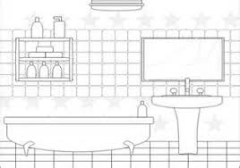 bedroom clipart black and white. clear bathroom vanity clipart cartoon tsc bedroom black and white