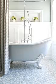 refinishing reviews portland oregon bathtubs painting a pink bathtub white painted clawfoot tub and mulitcolored penny flooring give this