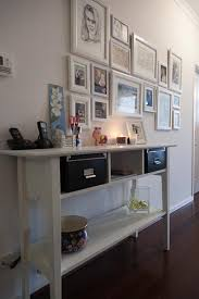 telephone console table. ikea console table for the telephone, photo wall above telephone