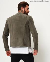 superdry real hero suede biker jackets pb0373 grey ulative light mens dgjknz0289