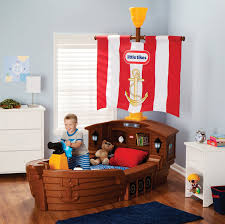 Pirate Themed Bedroom Furniture Amazoncom Little Tikes Pirate Ship Toddler Bed Toys Games
