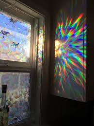 Decorative Windows For Houses Amazoncom Decorative Window Film Holographic Prismatic Etched