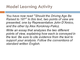 "easy steps to a great thesis statement ppt  18 model learning activity you have now ""should the driving age be raised"