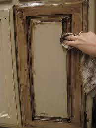 Glazed Kitchen Cupboard Doors How To Painting With Brown Glazed White Kitchen Cabinets Kitchen