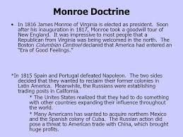 monroe doctrine in james monroe of virginia is elected as  monroe doctrine