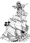 Раскраска пиратский корабль распечатать