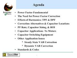 agenda power factor fundamental the need for power factor correction